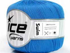 Lot of 6 Skeins Ice Yarns SWIM Hand Knitting Yarn Blue