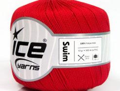 Lot of 6 Skeins Ice Yarns SWIM Hand Knitting Yarn Red