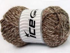 Lot of 2 x 200gr Skeins Ice Yarns ATLAS JUMBO Hand Knitting Yarn Brown White