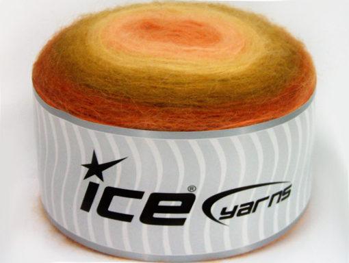 Lot of 2 x 200gr Skeins Ice Yarns CAKES ANGORA (20% Angora 20% Wool) Yarn Orange Olive Green Pink Gold