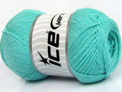 Lot of 4 x 100gr Skeins Ice Yarns NATURAL COTTON AIR (100% Cotton) Yarn Mint Green