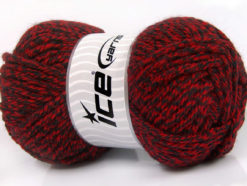 Lot of 4 x 100gr Skeins Ice Yarns ATLAS SUPERBULKY Yarn Red Black