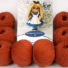 Lot of 8 Skeins Ice Yarns AMIGURUMI COTTON 25 (50% Cotton) Yarn Copper
