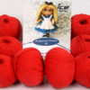 Lot of 8 Skeins Ice Yarns AMIGURUMI COTTON 25 (50% Cotton) Yarn Tomato Red