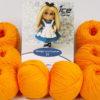 Lot of 8 Skeins Ice Yarns AMIGURUMI COTTON 25 (50% Cotton) Yarn Light Orange