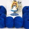 Lot of 8 Skeins Ice Yarns AMIGURUMI COTTON 25 (50% Cotton) Yarn Dark Blue