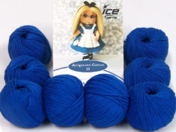 Lot of 8 Skeins Ice Yarns AMIGURUMI COTTON 25 (50% Cotton) Yarn Dark Blue