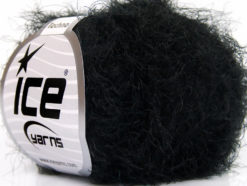 Lot of 8 Skeins Ice Yarns TECHNO Hand Knitting Yarn Black