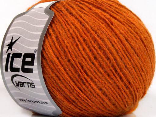 Lot of 8 Skeins Ice Yarns RONDO WOOL (40% Wool) Hand Knitting Yarn Orange