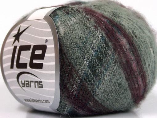 Lot of 10 Skeins Ice Yarns KID MOHAIR FLAMME (37% Kid Mohair) Yarn Grey Shades Maroon Lilac Turquoise
