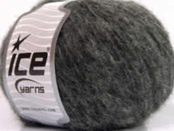 Lot of 8 Skeins Ice Yarns KEAN WOOL (44% Wool) Hand Knitting Yarn Grey