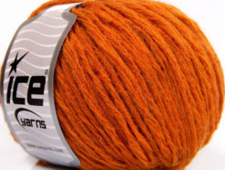 Lot of 8 Skeins Ice Yarns GRINTA LANA (50% Wool) Hand Knitting Yarn Orange