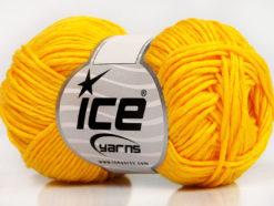 Lot of 8 Skeins Ice Yarns BABY SUMMER DK (50% Cotton) Hand Knitting Yarn Yellow