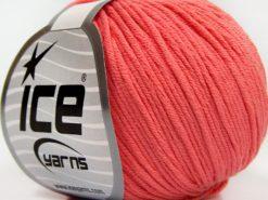 Lot of 8 Skeins Ice Yarns BABY SUMMER DK (50% Cotton) Hand Knitting Yarn Salmon