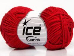 Lot of 8 Skeins Ice Yarns BABY SUMMER DK (50% Cotton) Yarn Dark Red