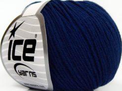 Lot of 8 Skeins Ice Yarns BABY SUMMER DK (50% Cotton) Hand Knitting Yarn Navy