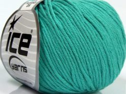 Lot of 8 Skeins Ice Yarns BABY SUMMER DK (50% Cotton) Yarn Emerald Green