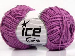 Lot of 8 Skeins Ice Yarns BABY SUMMER DK (50% Cotton) Yarn Lavender