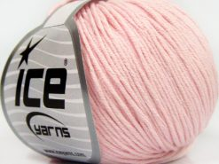 Lot of 8 Skeins Ice Yarns BABY SUMMER DK (50% Cotton) Yarn Baby Pink