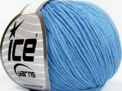 Lot of 8 Skeins Ice Yarns BABY SUMMER DK (50% Cotton) Yarn Baby Blue