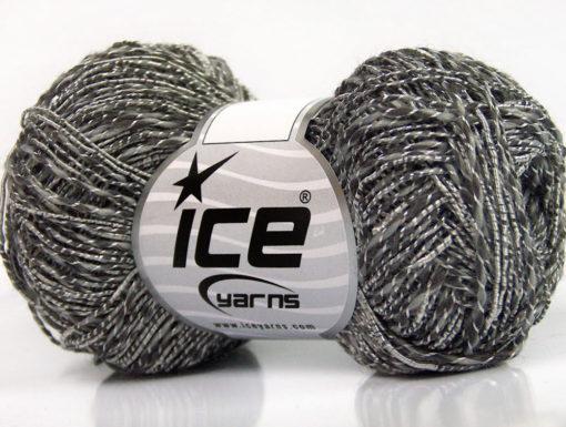 Lot of 8 Skeins Ice Yarns GINA VISCOSE (35% Viscose) Yarn Grey Shades