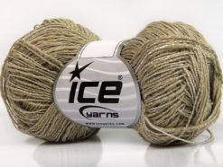 Lot of 8 Skeins Ice Yarns GINA VISCOSE (35% Viscose) Yarn Dark Beige