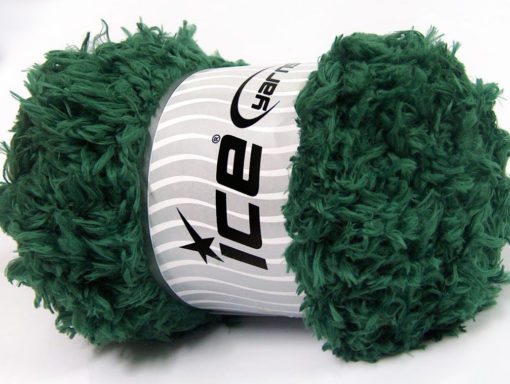 Lot of 2 x 200gr Skeins Ice Yarns LAMBKIN (100% MicroFiber) Yarn Dark Green
