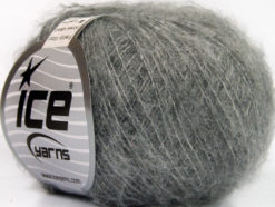 Lot of 10 Skeins Ice Yarns FREDDY WOOL (26% Wool 16% Viscose) Yarn Light Grey