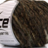 Lot of 8 Skeins Ice Yarns CHENILLE WOOL FLAMME (15% Wool) Yarn Dark Brown Black
