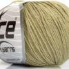 Lot of 8 Skeins Ice Yarns BABY SUMMER (60% Cotton) Yarn Light Khaki