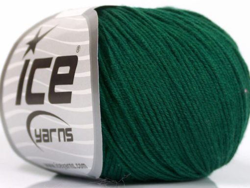 Lot of 8 Skeins Ice Yarns BABY SUMMER (60% Cotton) Yarn Dark Green