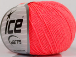 Lot of 4 Skeins Ice Yarns AMIGURUMI COTTON (60% Cotton) Yarn Neon Salmon