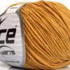 Lot of 8 Skeins Ice Yarns ALARA (50% Cotton) Hand Knitting Yarn Gold