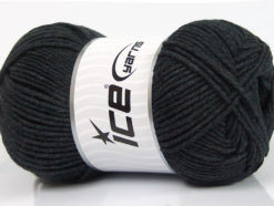 Lot of 4 x 100gr Skeins Ice Yarns LORENA WORSTED (55% Cotton) Yarn Anthracite Black