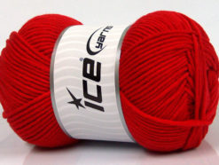 Lot of 4 x 100gr Skeins Ice Yarns LORENA WORSTED (55% Cotton) Yarn Tomato Red