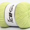 Lot of 4 x 100gr Skeins Ice Yarns LORENA SUPERFINE (55% Cotton) Yarn Light Green