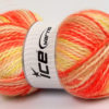 Lot of 2 x 150gr Skeins Ice Yarns SuperBulky ALPINE ANGORA COLOR (30% Angora) Yarn Orange Yellow