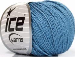 Lot of 4 Skeins Ice Yarns SILK COTTON (32% Silk 68% Cotton) Yarn Blue