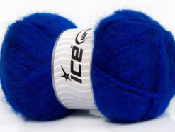 Lot of 2 x 150gr Skeins Ice Yarns SuperBulky ALPINE ANGORA (30% Angora) Yarn Blue