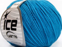 Lot of 8 Skeins Ice Yarns ALARA (50% Cotton) Hand Knitting Yarn Blue