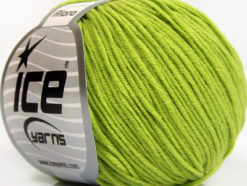 Lot of 8 Skeins Ice Yarns ALARA (50% Cotton) Hand Knitting Yarn Light Green
