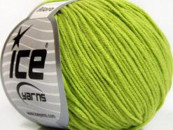 Lot of 8 Skeins Ice Yarns ALARA (50% Cotton) Hand Knitting Yarn Light Green