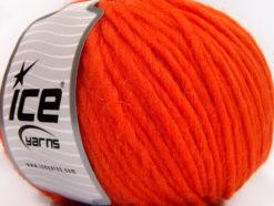 Lot of 4 x 100gr Skeins Ice Yarns FILZY WOOL (100% Wool) Yarn Orange