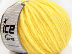 Lot of 4 x 100gr Skeins Ice Yarns FILZY WOOL (100% Wool) Yarn Light Yellow