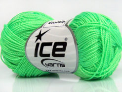 Lot of 10 Skeins Ice Yarns ETAMIN Hand Knitting Yarn Neon Green