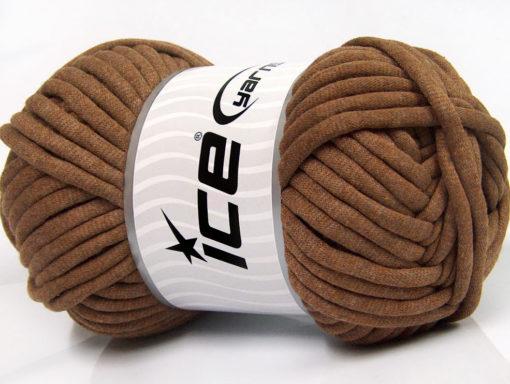 250 gr ICE YARNS TUBE COTTON JUMBO (40% Cotton) Hand Knitting Yarn Brown
