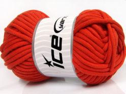 250 gr ICE YARNS TUBE COTTON JUMBO (40% Cotton) Hand Knitting Yarn Tomato Red
