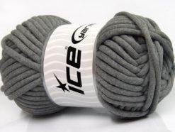 250 gr ICE YARNS TUBE COTTON JUMBO (40% Cotton) Hand Knitting Yarn Grey