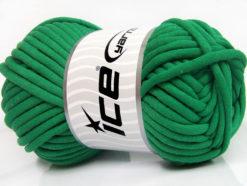 250 gr ICE YARNS TUBE COTTON JUMBO (40% Cotton) Hand Knitting Yarn Green
