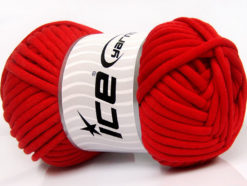 250 gr ICE YARNS TUBE COTTON JUMBO (40% Cotton) Hand Knitting Yarn Red